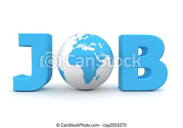 Job World Blue - csp2553370