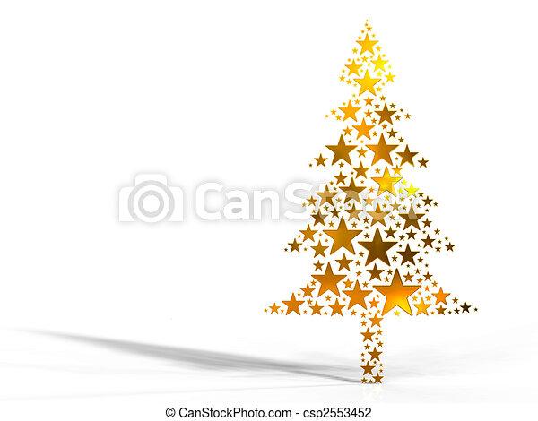 stock de dorado hecho rbol navidad estrellas