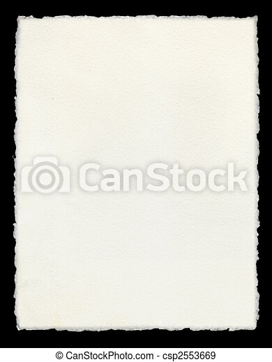 Deckle Edged Paper - csp2553669