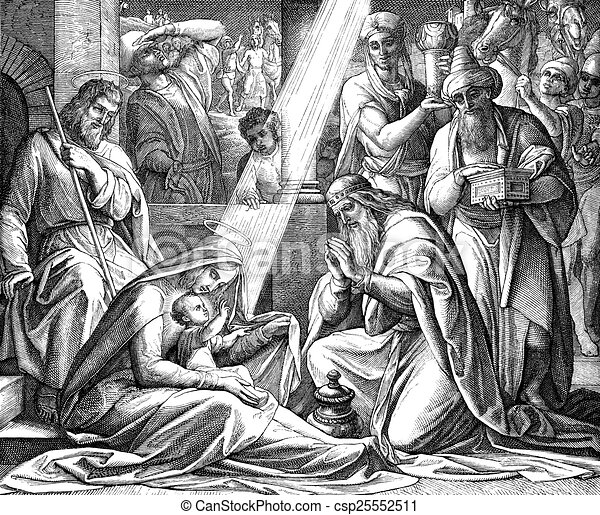 Clipart of Adoration Of The Magi - The Adoration of the Magi from ...