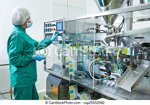 pharmaceutical factory worker - csp25552582