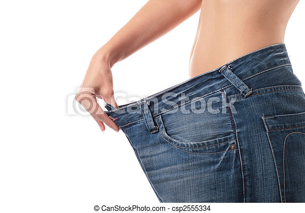Weight loss concept. - csp2555334