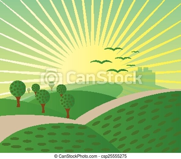 Nature meadow background