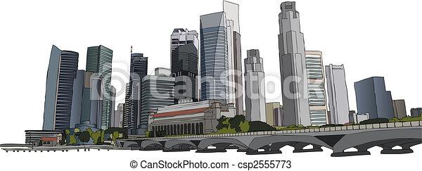 Singapore cityscape - csp2555773
