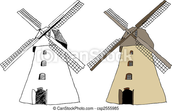 Traditional dutch windmill - csp2555985