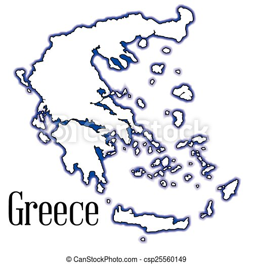 Greek Map Outline Outline Map of Greece And The