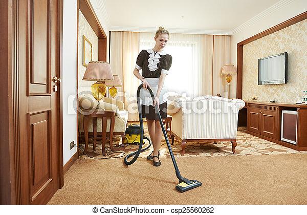 Stock beeld van kamermeisje hotel dienst hotel dienst vrouwlijk csp25560262 zoek - Klein kamermeisje ...