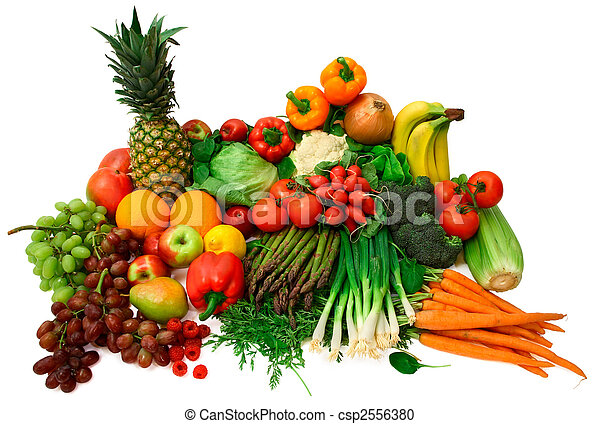 fresco, legumes, frutas - csp2556380