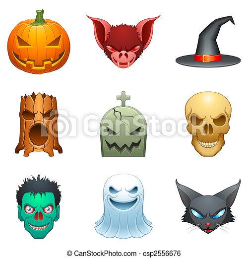 Vector Halloween characters. - csp2556676