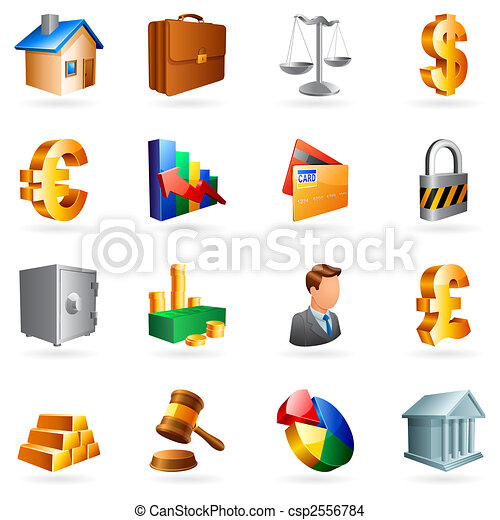Vector business icons. - csp2556784