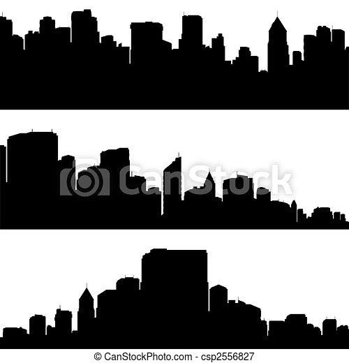 City silhouettes. - csp2556827