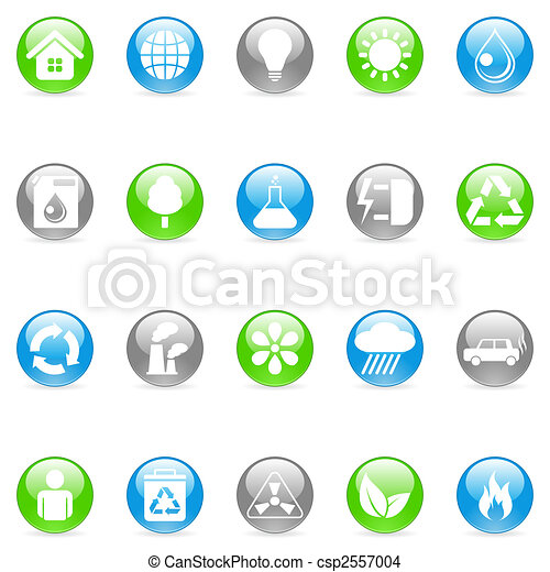 Environmental icons. - csp2557004