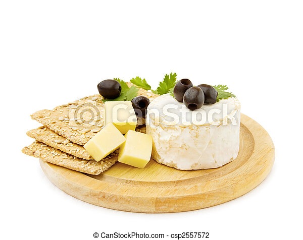 Brie and cheddar cheese - csp2557572