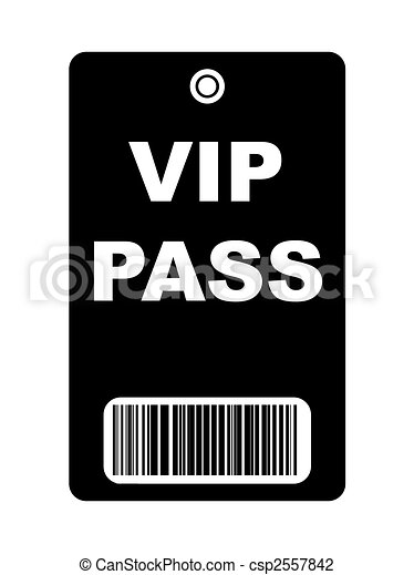 Clip Art of Black VIP Pass - Black VIP access pass with ...