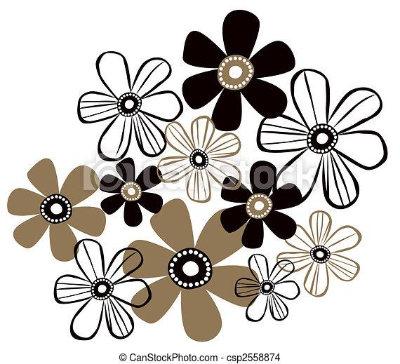 prosty, próbka, kwiat - csp2558874