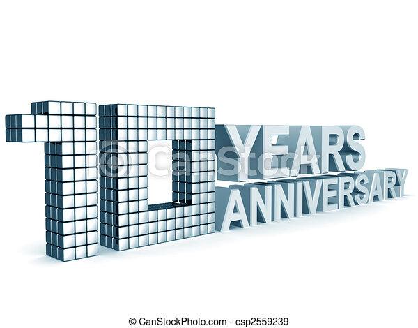 10 years anniversary - csp2559239