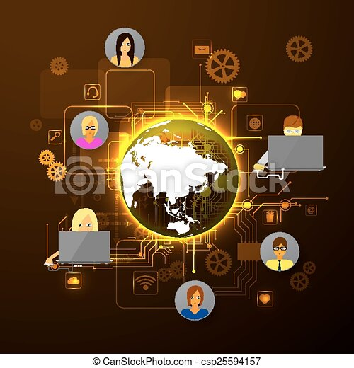 The concept of social network - csp25594157