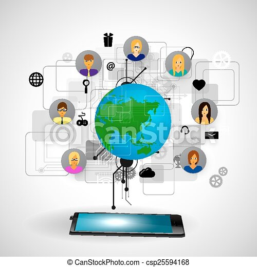 The concept of social network - csp25594168