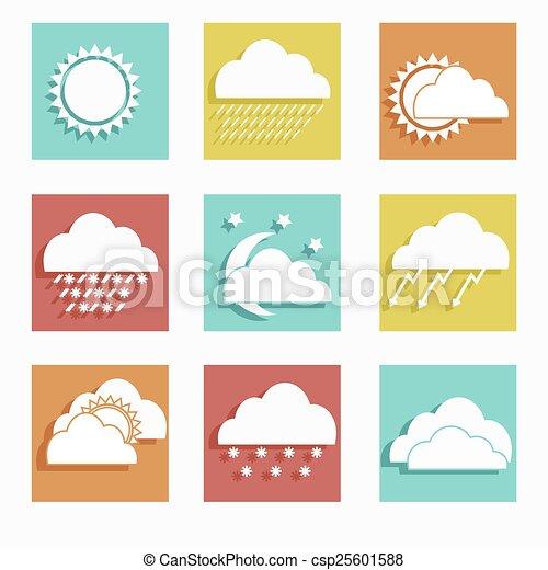 Weather Forecast Drawings Icon Set Weather Forecast