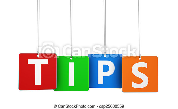 Tips Word On Tags - csp25608559