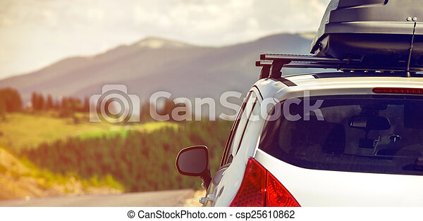 car with a roof rack