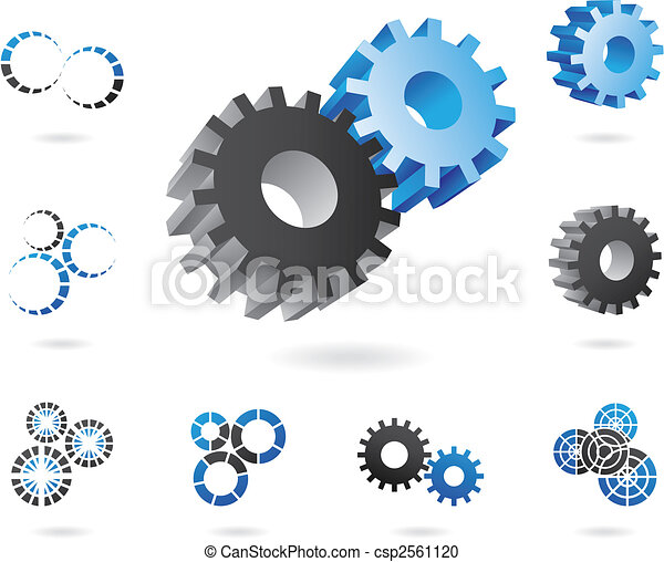 2d and 3d cogs - csp2561120