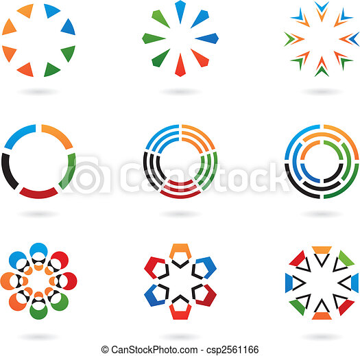colourful abstract design elements - csp2561166
