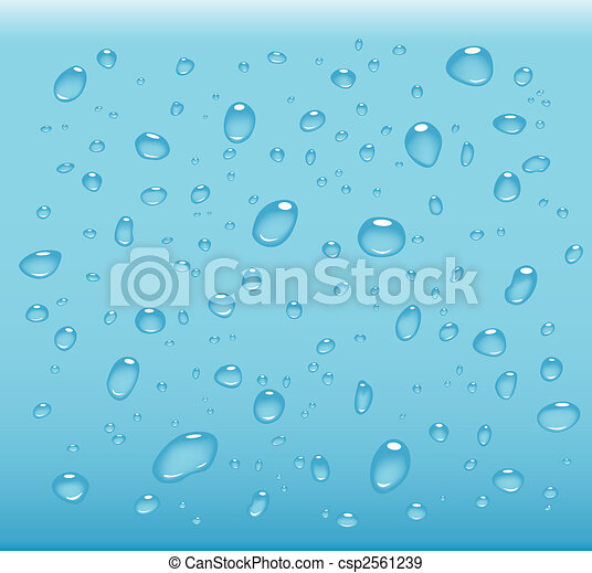 transparent water drops - csp2561239