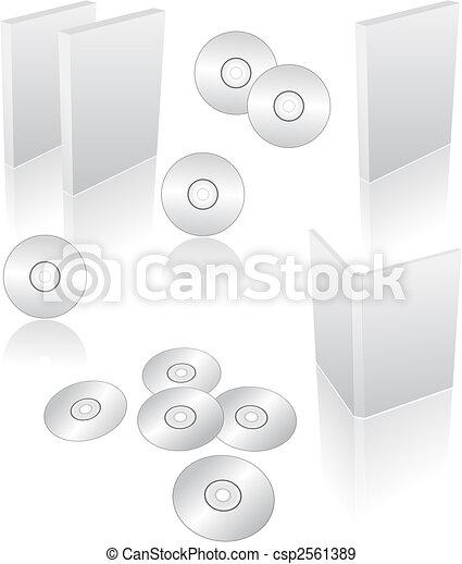 dvd, cd, blu-ray cases - csp2561389
