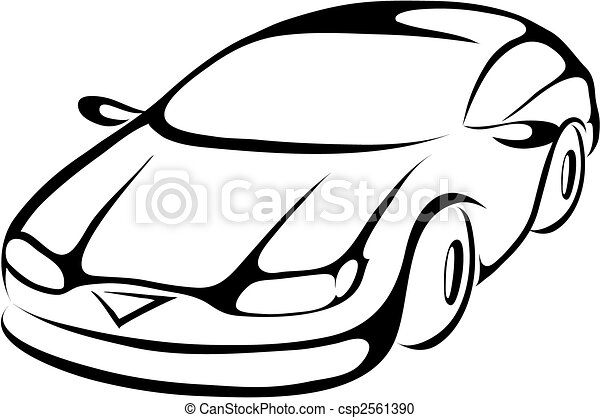 stylized cartoon car - csp2561390