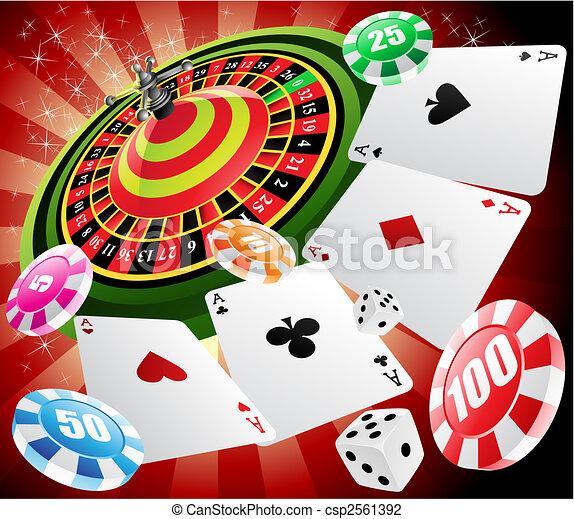 casino and roulette - csp2561392
