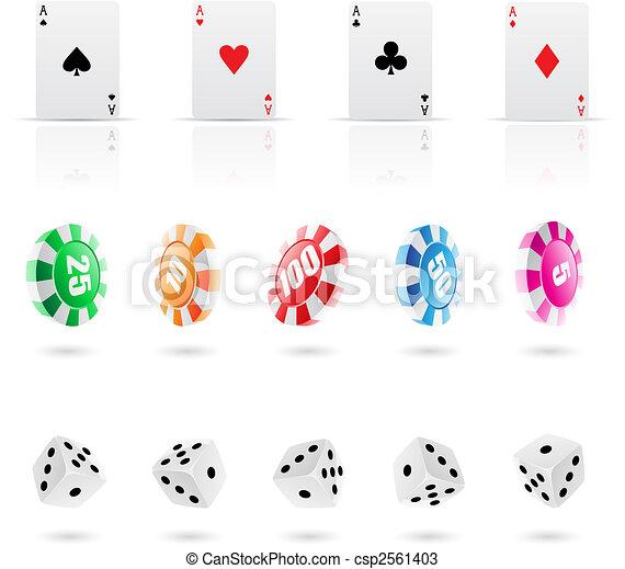 casino icons - csp2561403
