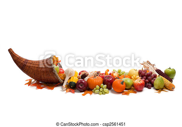 Arrangement of fall fruits and vegetables - csp2561451