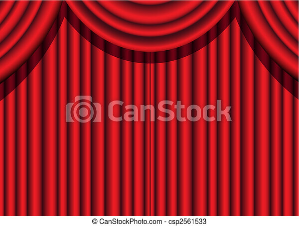 red velvet curtain - csp2561533
