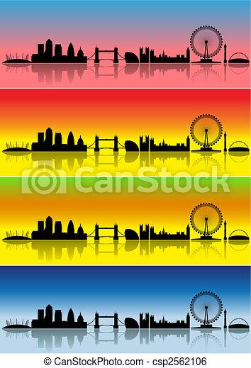 London in four seasons - csp2562106