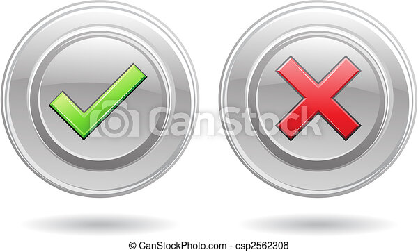 ok sign and error signs - csp2562308