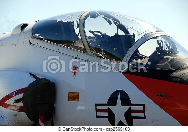 Military Jet fighter cockpit - csp2563103