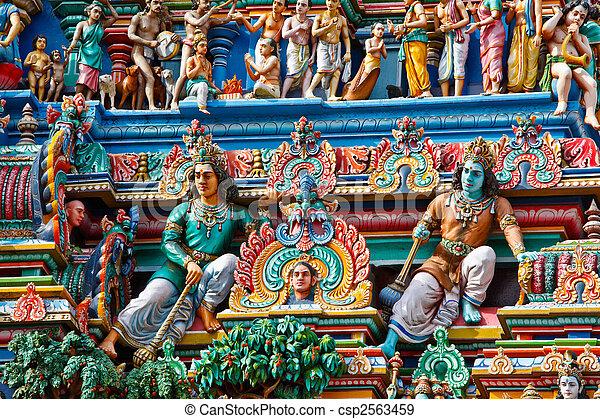 Gopuram (tower) of Hindu temple  - csp2563459