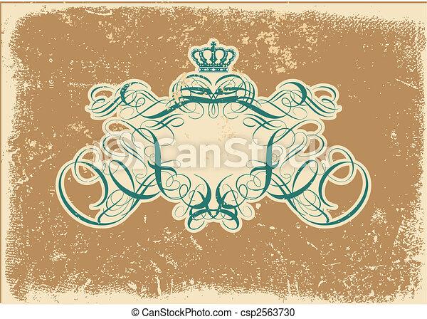 heraldic titling frame - csp2563730