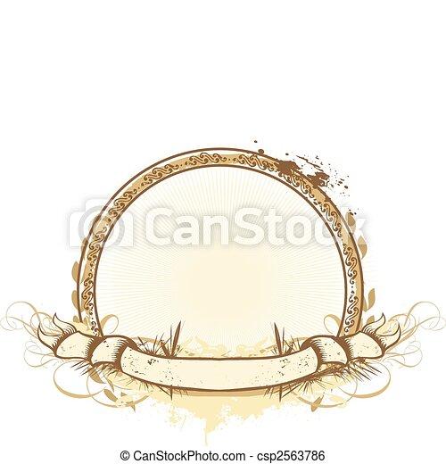 heraldic titling frame - csp2563786