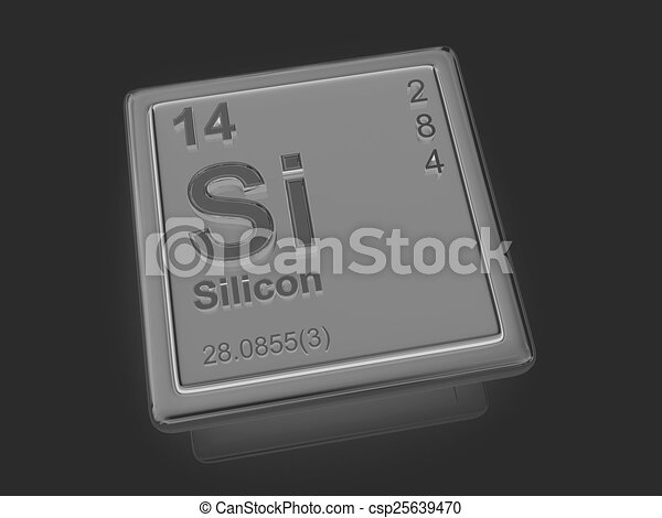 Silicon. Chemical element. - csp25639470
