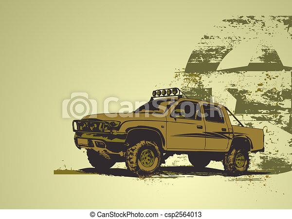 vintage military vehicle - csp2564013