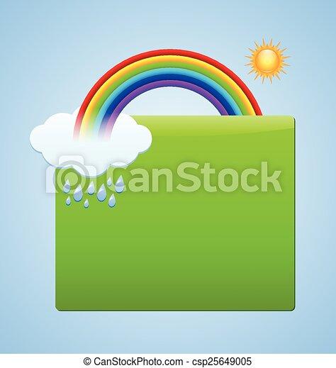 clipart vecteur de arc en ciel sc ne plaque vert plaque ton coutume csp25649005. Black Bedroom Furniture Sets. Home Design Ideas