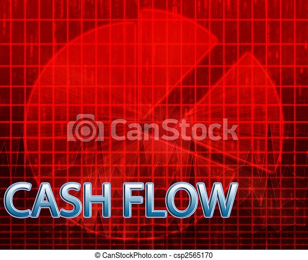 Cash flow budgeting - csp2565170