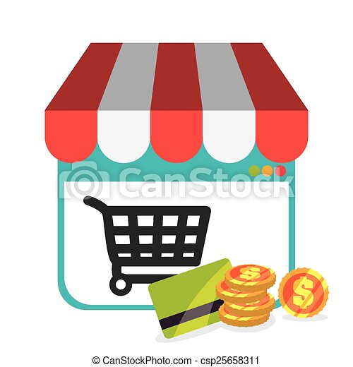 Vector Clip Art of Ecommerce design, vector illustration ...