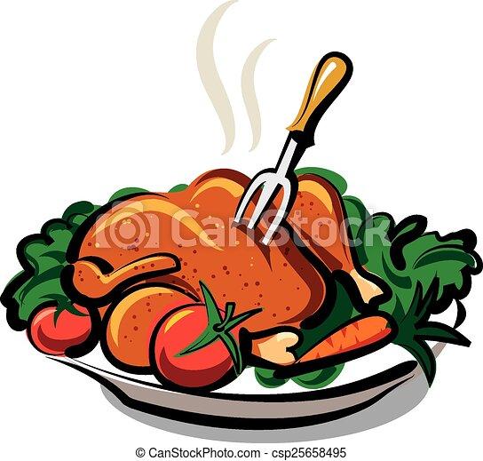 EPS vectores de caliente, pollo, asado - caliente, asado, pollo ...