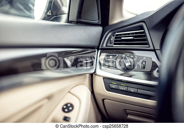 stock photo of modern car interior with leather and premium details csp25658728 search. Black Bedroom Furniture Sets. Home Design Ideas