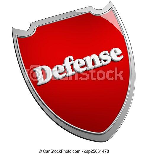 Stock Illustrations of Defense shield - Red Defense shield ...