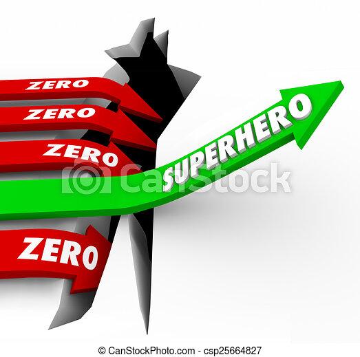 Number Names Worksheets opposite word great : Clip Art of Superhero Vs Zero Top Performer Defender Protector ...