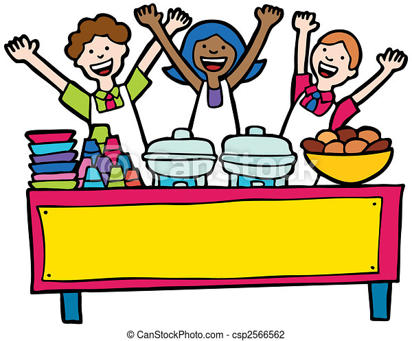 vector illustration of buffet service table isolated on a water clip art for kids water clip art for kids